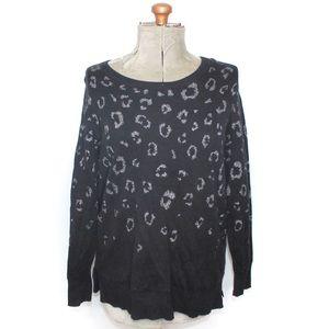 Love & Legend Black Cheetah Print Sweater
